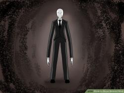 Drawn slender man thin man