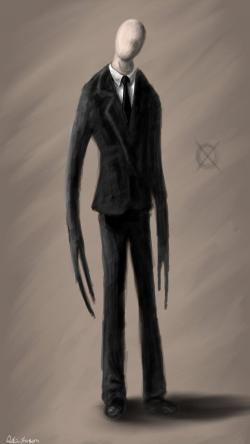 Slender Man clipart thin person
