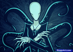 Drawn slender man anime