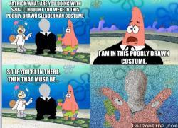 Slender Man clipart spongebob