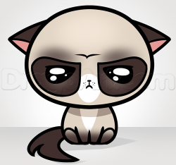 Drawn grumpy cat disney