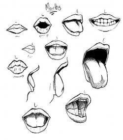 Drawn tongue drawing