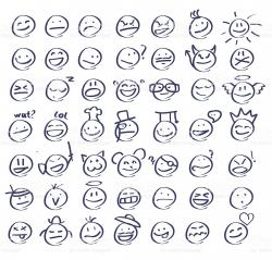 Drawn smileys