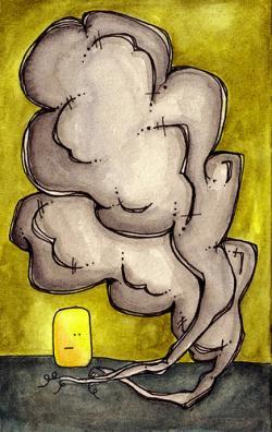 Drawn smoke
