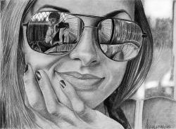 Drawn goggles mirror reflection