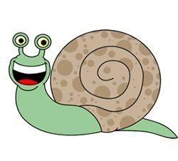 Drawn snail cartoon french