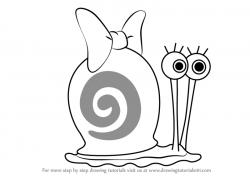 Drawn snail
