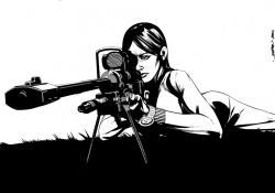Drawn snipers comic