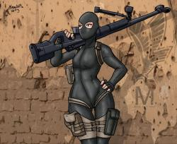 Drawn snipers mercenary