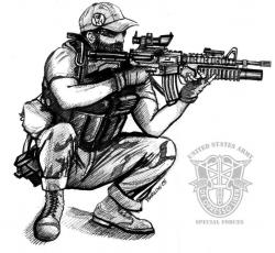 Drawn snipers military