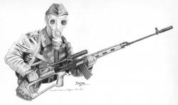 Drawn snipers modern german