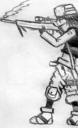 Drawn snipers pencil
