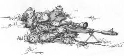 Drawn snipers sketch