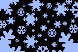 Drawn snowfall themed