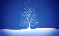 Drawn snowfall desktop background