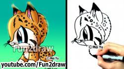 Drawn lynx baby