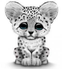 Ocelot clipart cute leopard