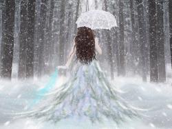 Drawn snowfall walpaper