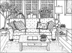 Drawn sofa couch