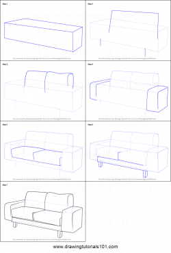 Drawn figurine couch