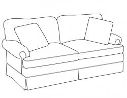 Drawn sofa modern