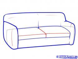 Drawn sofa simple