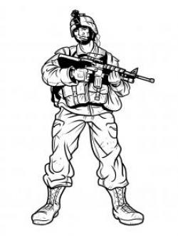 Drawn soldier