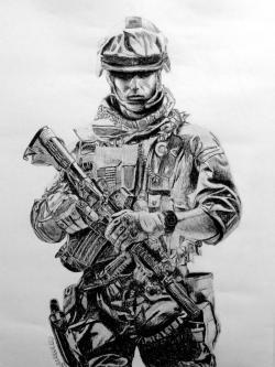 Drawn soldier battlefield