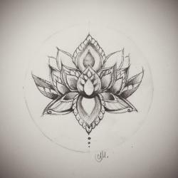 Drawn lotus buddhism