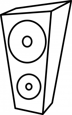Speakers clipart black and white