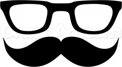 Drawn goggles hipster