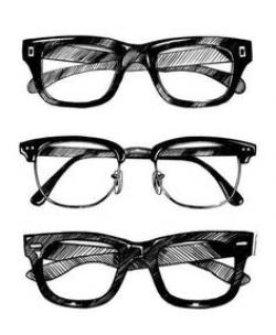 Drawn spectacles texture