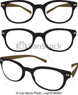 Drawn spectacles vector art