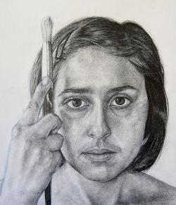 Drawn spheric famous self portrait