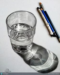 Drawn waterdrop glass sketch