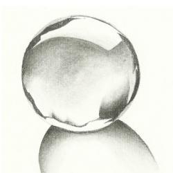 Drawn glasses glass sphere
