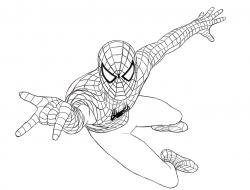 Drawn spiderman