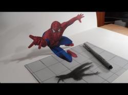 Drawn crocodile trick art