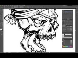 Drawn skull adobe illustrator