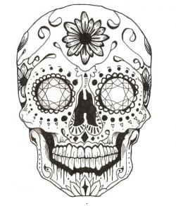 Drawn sugar skull