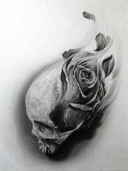 Drawn tattoo realistic