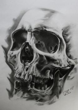 Drawn tattoo skeleton