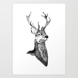 Drawn stag noble