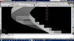 Drawn stairs autocad 3d