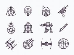 Drawn star wars