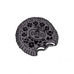 Oreo clipart black and white