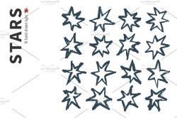 Drawn stars
