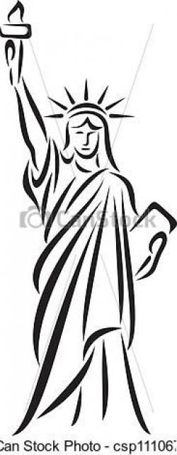 Drawn statue of liberty