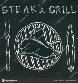 Drawn steak fork