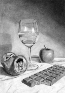 Drawn still life